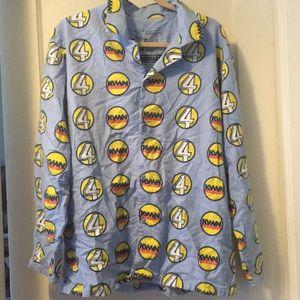 Anchorman Ron Burgundy flannel pj top loungewear